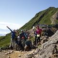 日本の山 石井登山学校 テント泊赤岳 赤岳稜線に出ました。快晴です! #山へ行こうよ。 #赤岳 #アルパインツアー