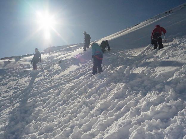 雪山講習会 富士山六合目雪上講習 (1)