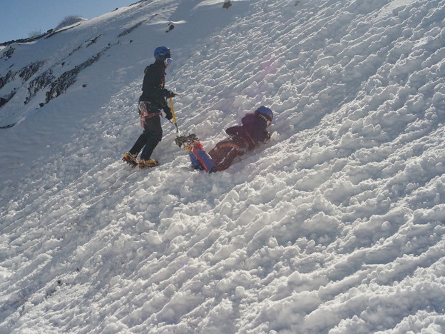 雪山講習会 富士山六合目雪上講習 (13)