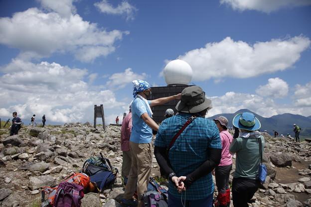 日本の山 空見ハイキング霧ヶ峰 車山山頂での雲解説