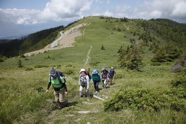 日本の山 美ヶ原ロングトレイル 武石峰を越え、草原歩きが楽しい!