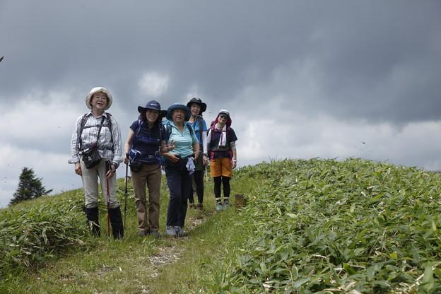 日本の山 美ヶ原ロングトレイル 三峰山への途上