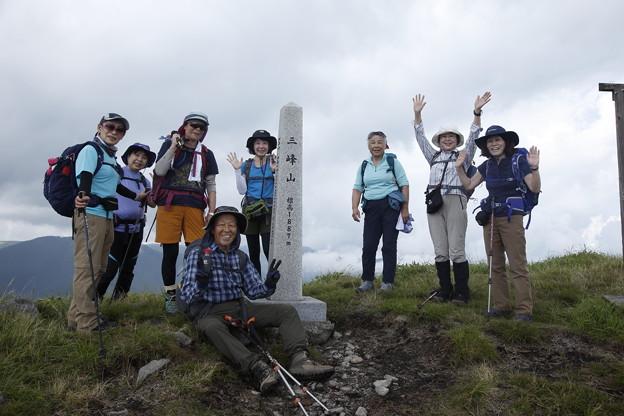 日本の山 美ヶ原ロングトレイル 目的地三峰山です!お疲れ様