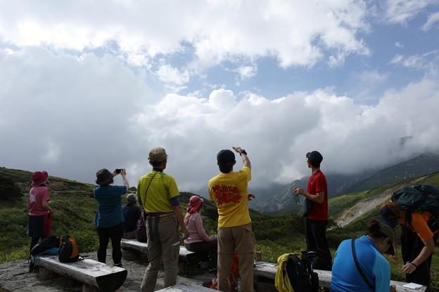 日本の山 空見ハイキング 立山 天狗平で空見解説