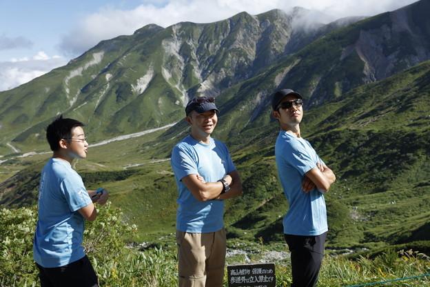 日本の山 立山連峰・空見ハイキング 室堂上部にて