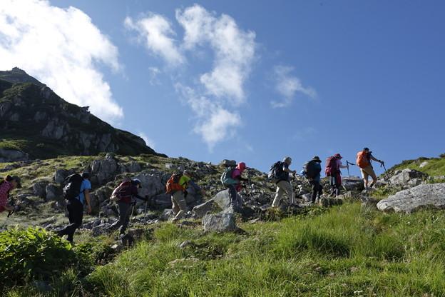 日本の山 立山連峰・空見ハイキング 室堂山へのハイキング