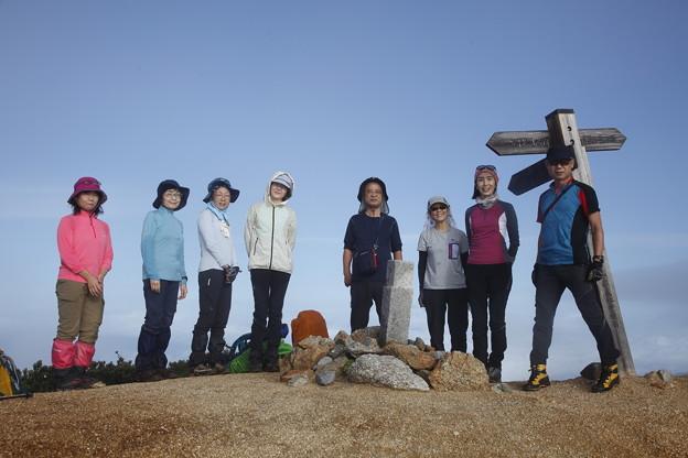 日本の山 中ア 南駒ヶ岳・空木岳縦走3日間 越百山です。