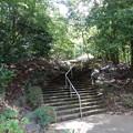 写真: 階段下