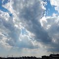 写真: 雷雲迫る