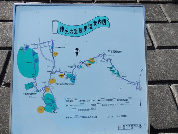 柿生の里散歩道案内図