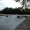 写真: 流れ橋 流出