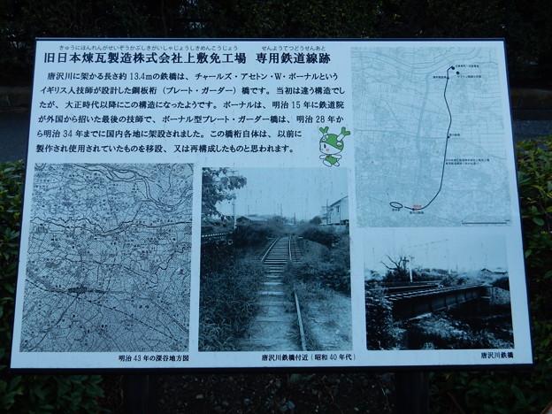 唐沢川鉄橋説明