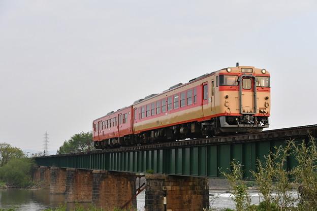 磐越西線普通列車 (キハ48+キハ47)