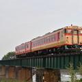 写真: 磐越西線普通列車 (キハ48+キハ47)