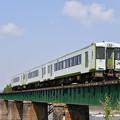 写真: 磐越西線 普通列車 (キハ112+キハ111+キハ110)
