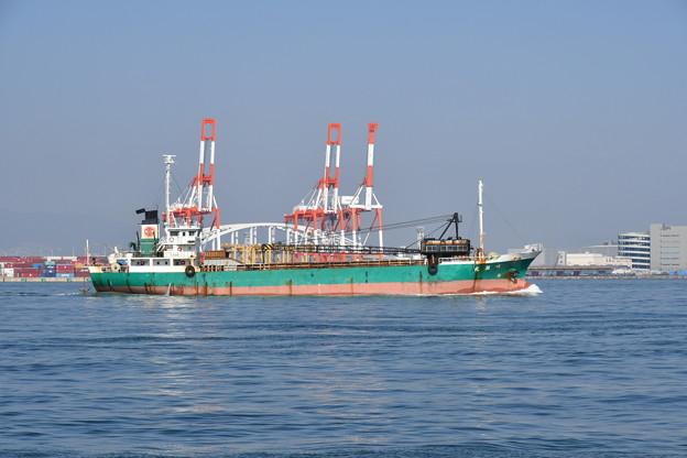 大阪湾にて