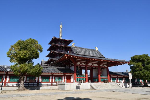四天王寺 中門と、五重塔