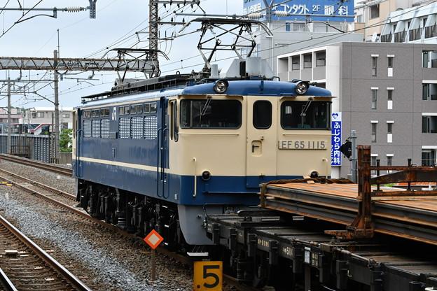 レール輸送列車 (EF651115)