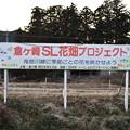 倉ケ崎SL花畑プロジェクト看板