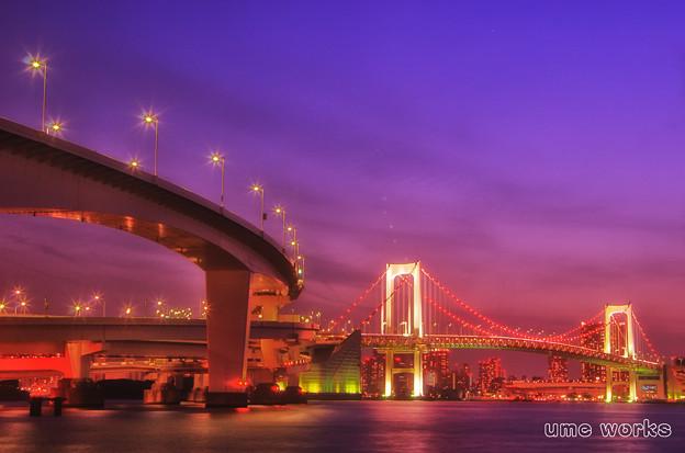 東京夜景 レインボーブリッジA