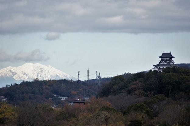 犬山城と御嶽山