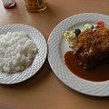 写真: チキンカツ定食