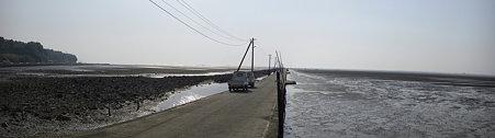 長部田海床路パノラマ