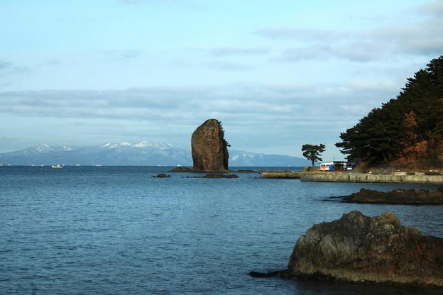 帆立岩と津軽半島01