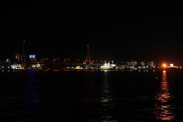 港の夜景(青い海公園)