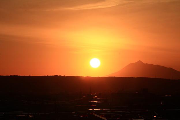 夕景色・岩木山1