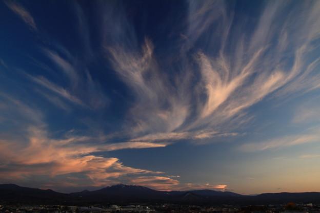 Photos: 夕焼け雲踊る