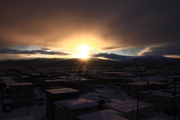雪国の初日の出