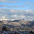 里山の雪景色