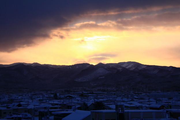 朝陽・登山中