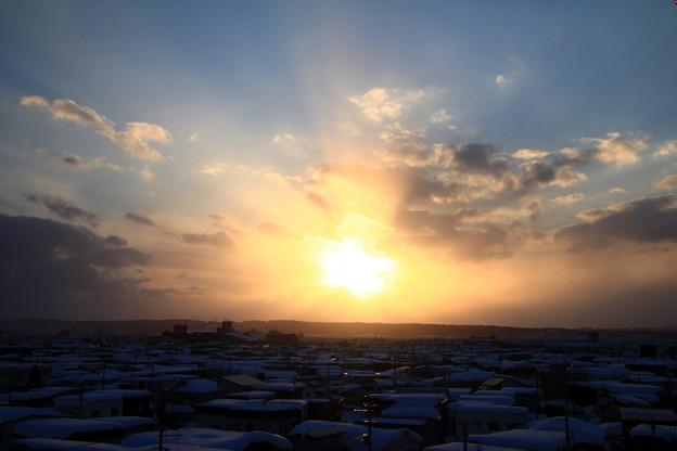 冬の夕景色