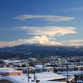 冬晴れの八甲田山