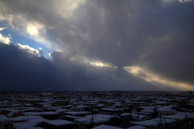 Photos: 雲裂ける