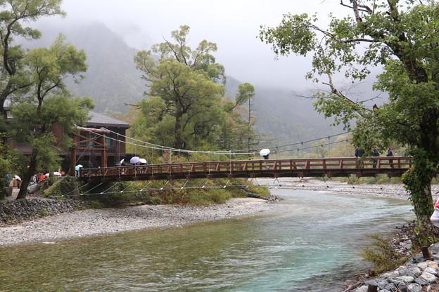 河童橋と梓川