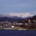 ソーラー発電より谷川岳