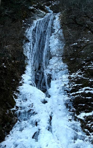 圧巻 冬の丸神(まるがみ)の滝1)