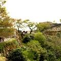 竹田城跡右前方が天守閣跡