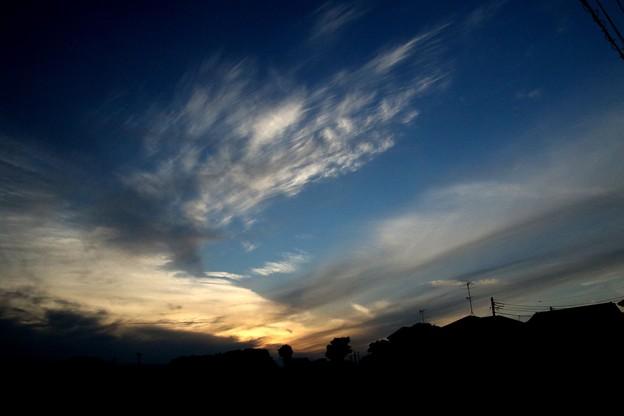 写真: 日暮れの空模様