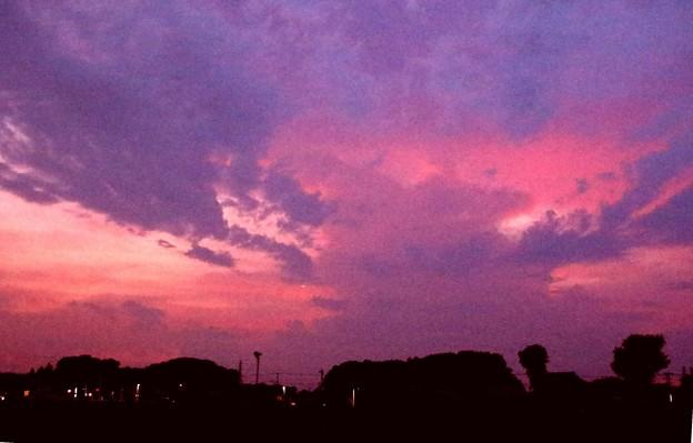 夕焼けの雲1
