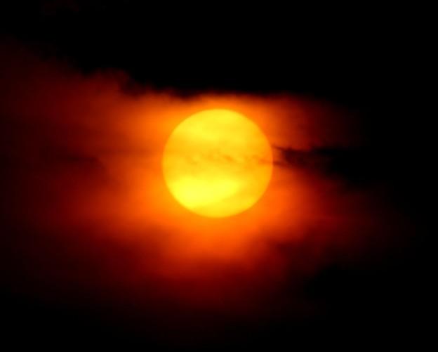日没の太陽1