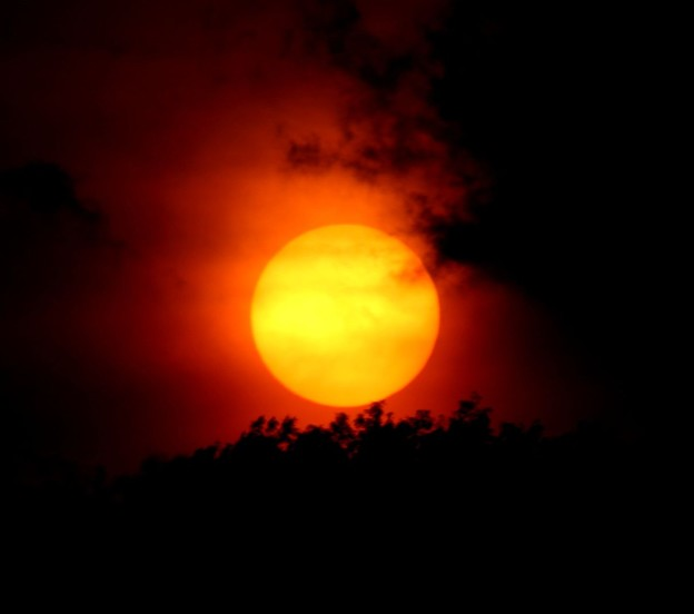日没の太陽4