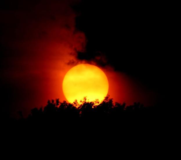 日没の太陽5