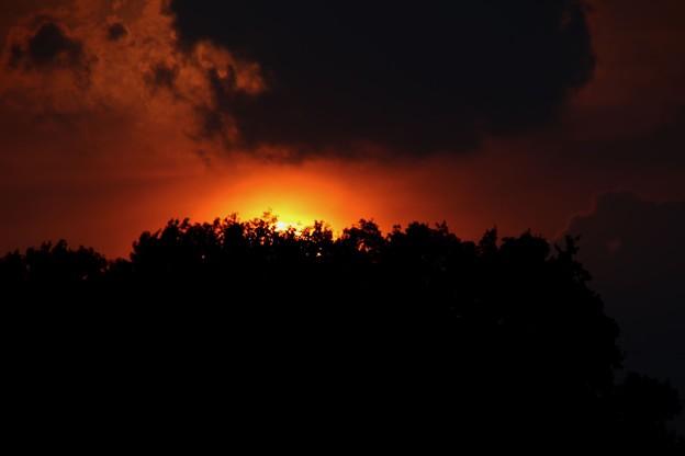 日没の太陽7