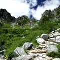 急な登山道