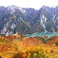 絶景 紅葉の黒部湖