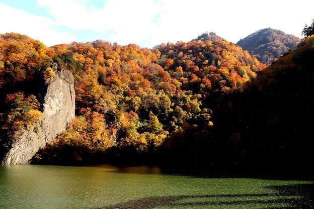藤原湖の秋